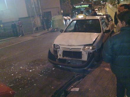 un coche alcanzado