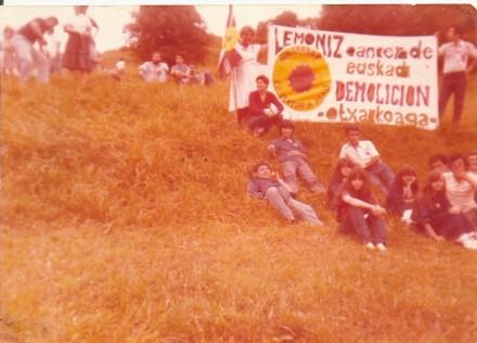 1978 manifestación contra Lemoiz