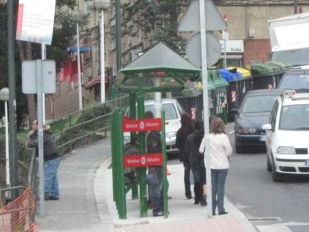 parada del bus Otxarkoga / foto afopres