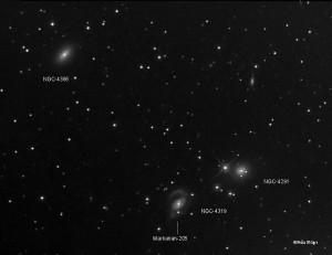 NGC-4319 & Markarian-205 Observatorio Astronómico El Maestrat cód. J19 Felipe Peña