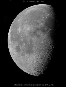 Luna Menguante Observatorio Astronómico El Maestrat cód. J19 Felipe Peña