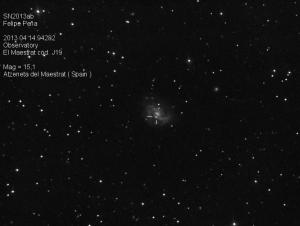 SN2013ab Observatorio Astronómico El Maestrat cód. J19 Felipe Peña.