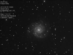 SN2013ej Observatorio Astronómico El Maestrat cód. J19 Felipe Peña 05/08/2013