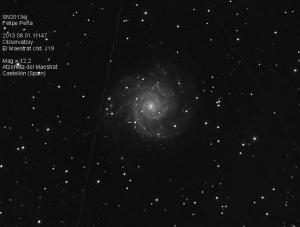 SN2013ej Observatorio Astronómico El Maestrat cód. J19 Felipe Peña 01/08/2013
