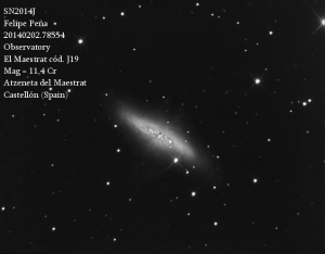 SN2014J Observatorio Astronómico El Maestrat cód. J19 Felipe Peña