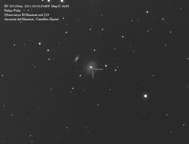 Observatorio El Maestrat cód. J19 Felipe Peña